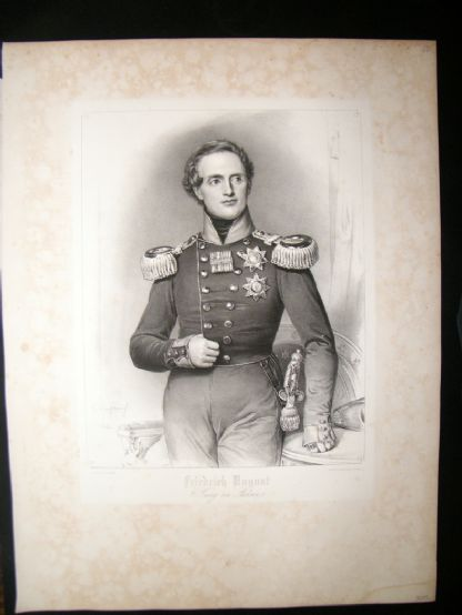 After Joseph Stieler C1840 LG Folio Print. Frirdrich August, King of Saxony | Albion Prints